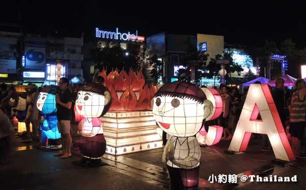 泰國清邁古城東門Tha Phae Gate塔佩門燈飾2.jpg