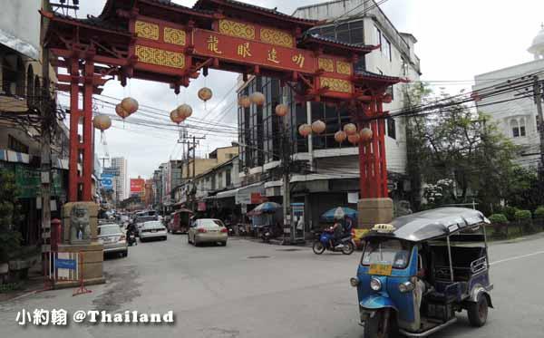 泰國清邁中國城紅色牌坊龍眼達叻