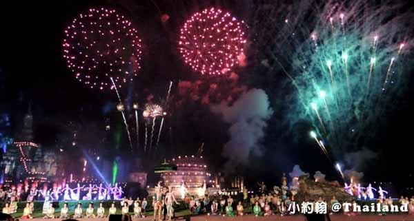 素可泰水燈節煙火秀 Sukhothai 素可泰歷史遺跡公園3.jpg