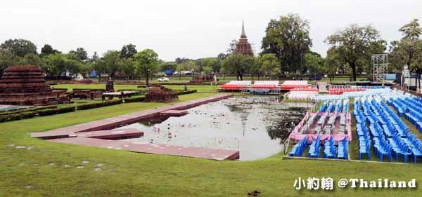 素可泰水燈節煙火秀坐位區 Sukhothai 素可泰歷史遺跡公園