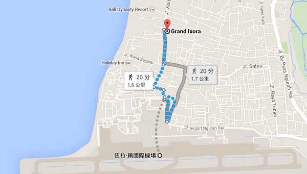 印尼峇里島飯店Grand Ixora Kuta Resort MAP.jpg