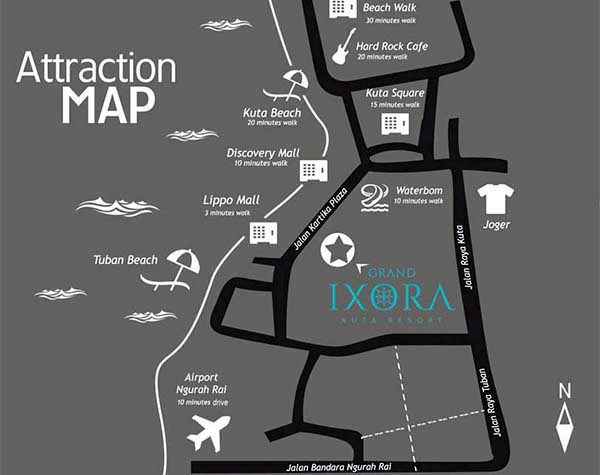印尼峇里島飯店Grand Ixora Kuta Resort MAP2.jpg