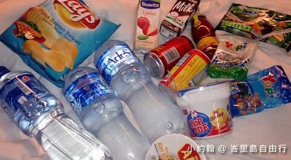 峇里島自由行- 買零食 礦泉水 泡麵