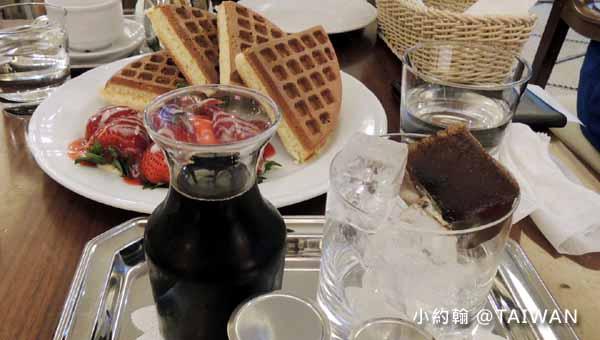 米朗琪咖啡館Melange Cafe冰滴咖啡草莓鬆餅@捷運中山站1.jpg