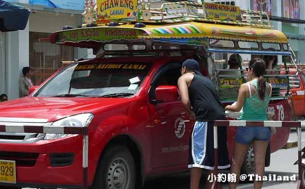 泰國蘇美島紅色雙條車.jpg