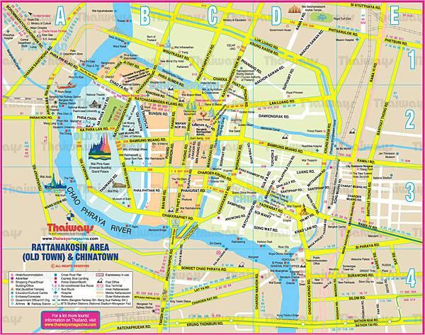 曼谷市區地圖bangkok map
