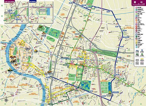 泰國觀光局 曼谷市區地圖bangkok map