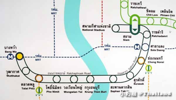 泰國曼谷MRT地鐵未來延長路線段