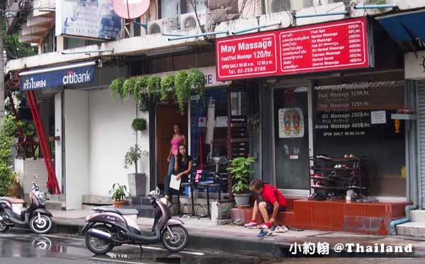 泰國曼谷低價按摩-May Massage腳底按摩、泰式按摩120泰銖Asok站