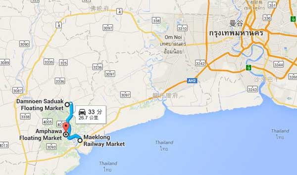泰國曼谷到丹嫩莎朵水上市場 美功鐵道市場 安帕瓦