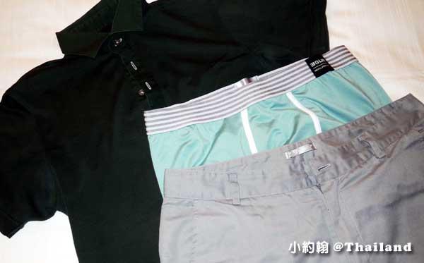 旅行經驗談洗衣服內褲快乾妙招-三槍四角褲體驗