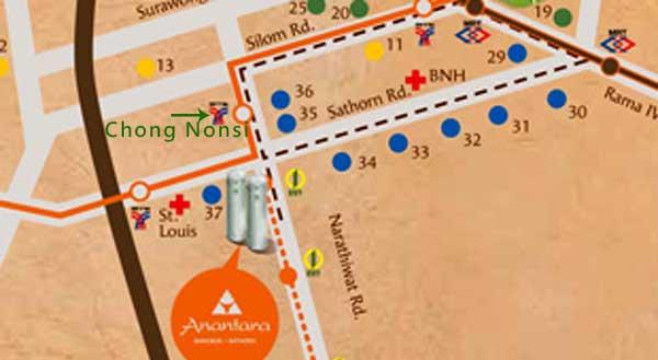 Anantara Bangkok Sathorn Hotel曼谷安娜塔拉沙通五星級公寓式飯店map.jpg