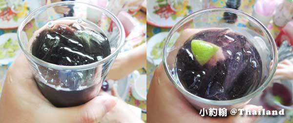 泰國8天7夜(下)綠色旅遊 藍紫夢幻的蝶豆汁 Butterfly Pea juice