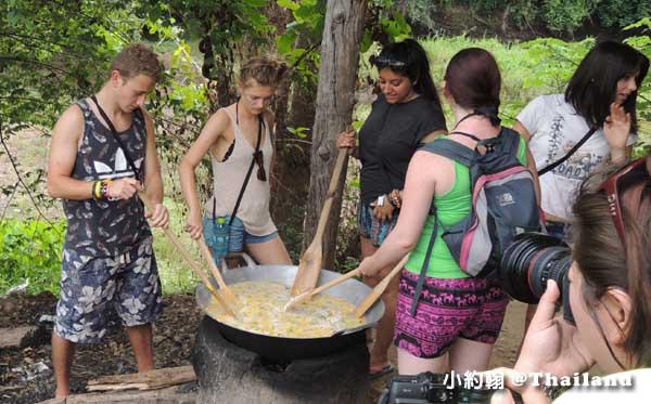 泰國大象世界Elephants World為大象工作@Kanchanaburi廚房3.jpg