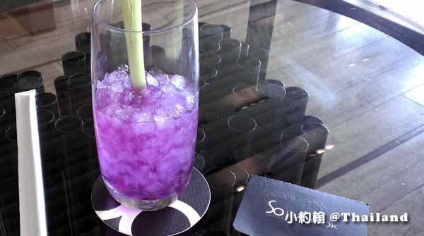 Sofitel So Bangkok Hotel索菲特曼谷五星飯店-迎賓飲料-蝶豆汁.jpg