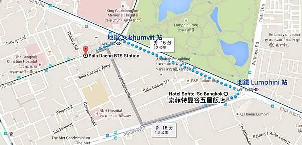 Sofitel So Bangkok Hotel索菲特曼谷五星飯店MAP地圖