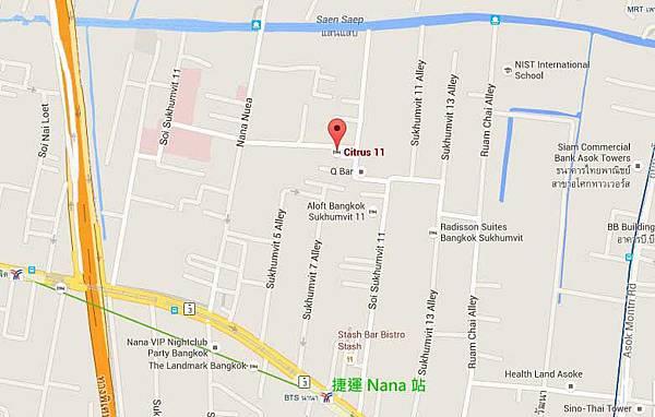Citrus Sukhumvit 11 捷運Nana站地圖MAP.jpg