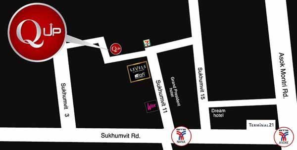 Q Bar Bangkok qup map