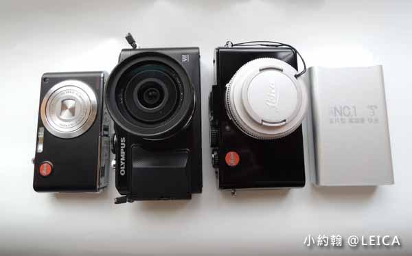 開箱Leica D-LUX6德國萊卡F1.4大光圈超越Panasonic LX7 大小比一比.jpg