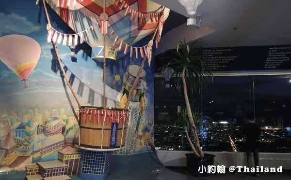 曼谷看夜景Baiyoke Sky Hotel 84樓360度旋轉觀景台3.jpg