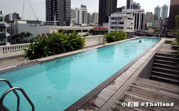 Cabochon Hotel & Residence台灣人開的法式古典民宿飯店@Phrom Phong泳池.jpg
