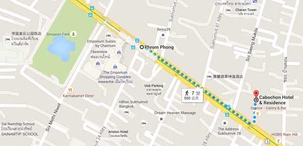 泰國曼谷Cabochon Hotel & Residence MAP