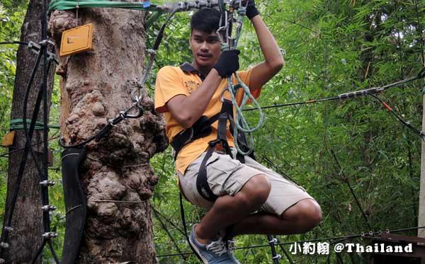 Tree Top Adventure Park山頂叢林冒險公園,緊張又刺激@泰國北碧府4.jpg