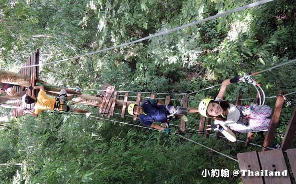 Tree Top Adventure Park山頂叢林冒險公園,緊張又刺激@泰國北碧府5.jpg