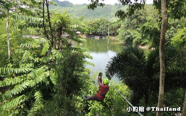 Tree Top Adventure Park山頂叢林冒險公園,緊張又刺激@泰國北碧府8.jpg