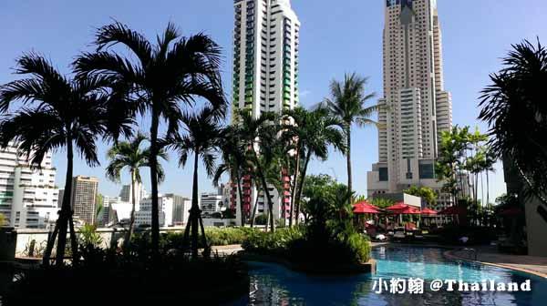 Amari Watergate Bangkok飯店早餐吧,綠洲泳池