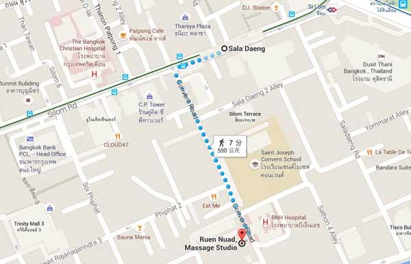 Ruen-Nuad Massage Studio泰屋按摩店MAP