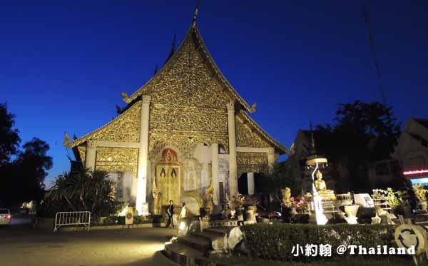 清邁佛寺Wat Chedi Luang柴迪隆寺(聖隆骨寺)晚上1.jpg