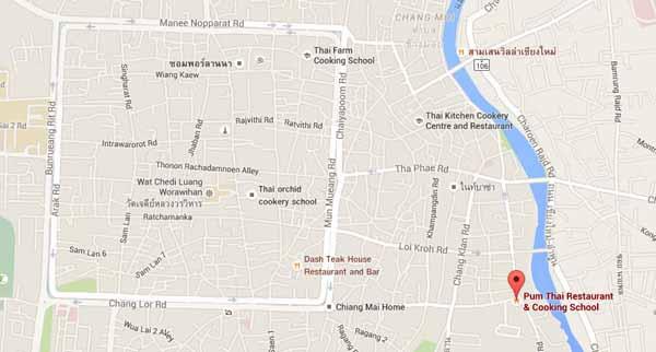 清邁餐廳學做菜Pum Restaurant & cooking school@Ping River MAP.jpg