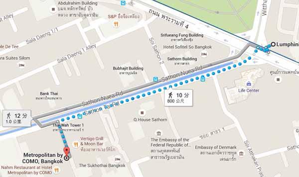 曼谷大都會飯店Metropolitan by COMO Bangkok@地鐵Lumpini地圖.jpg
