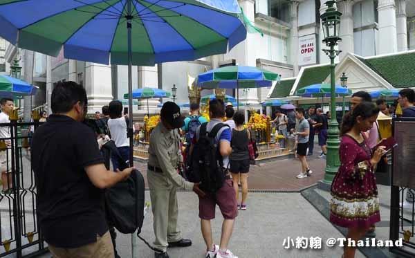 泰國曼谷- 四面佛爆炸案後安檢變嚴格