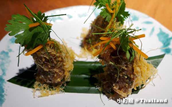 Nahm第一名的泰式料理餐廳Metropolitan Bangkok前菜2.jpg
