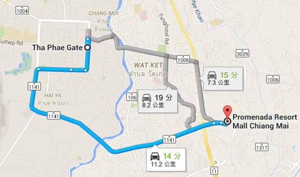 Promenada Resort Mall清邁漫步度假村飯店百貨MAP.jpg