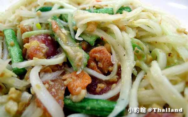 清邁必買必吃Big C Extra Chiang Mai大超市美食街青木瓜沙拉2.jpg