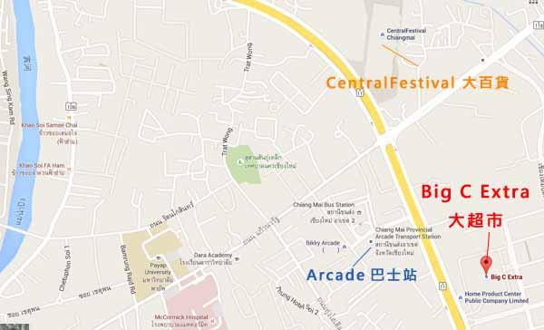 清邁必買必吃Big C Extra Chiang Mai大超市 MAP.jpg