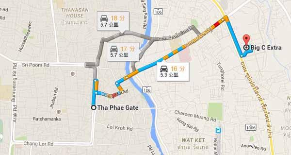 清邁必買必吃Big C Extra Chiang Mai大超市 MAP2.jpg
