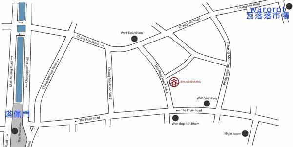 Baan Saen Fang Hotel Resort Villas清邁私密小別墅@Chiang Mai map.jpg