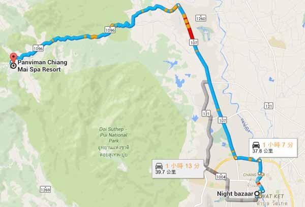 Panviman Chiang Mai Spa Resort map