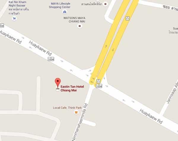 清邁譚伊斯丁飯店 (Eastin Tan Hotel Chiang Mai) map.jpg