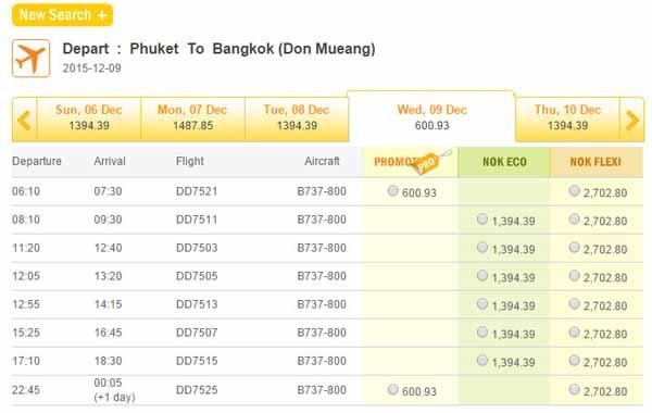 2015-10-15 Nok Airlines  Phuket To Bangkok(Don Mueang)