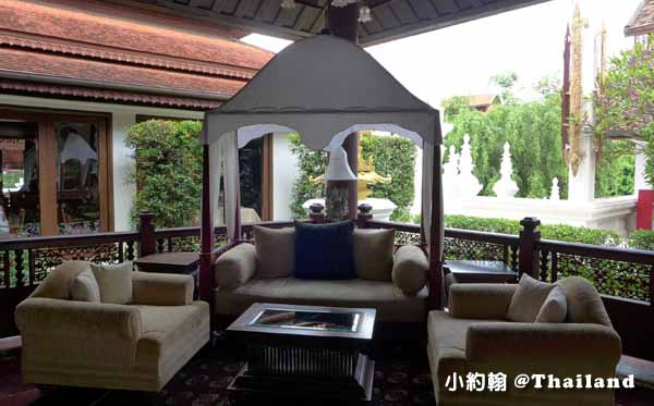 Dhara Dhevi Hotel Chiang Mai頂級奢華渡假村2-Colonial Suite殖民地風格套房1-大廳沙發.jpg