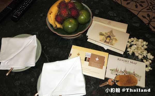 Dhara Dhevi Hotel Chiang Mai頂級奢華渡假村2-Colonial Suite殖民地風格套房1迎賓水果.jpg