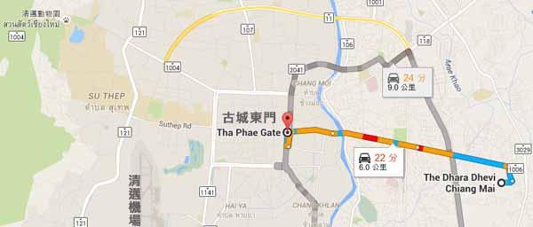 Dhara Dhevi Hotel Chiang Mai頂級奢華渡假村MAP