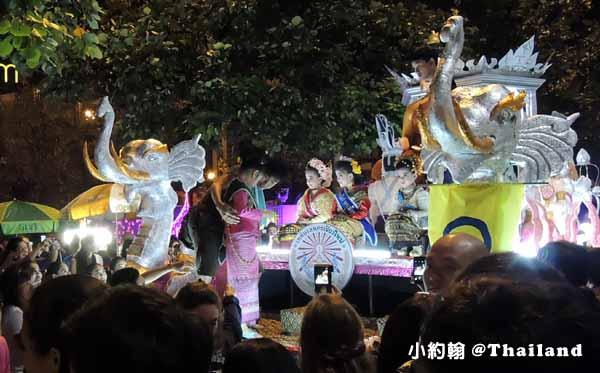 泰國水燈節Loi Krathong花車大遊行,蘭納俊男美女選秀會3.jpg