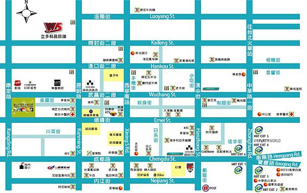Ximenting (Ximending) tourist attractions Map2