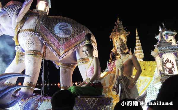 泰國水燈節Loi Krathong攻略Mae Ping River花車大遊行2